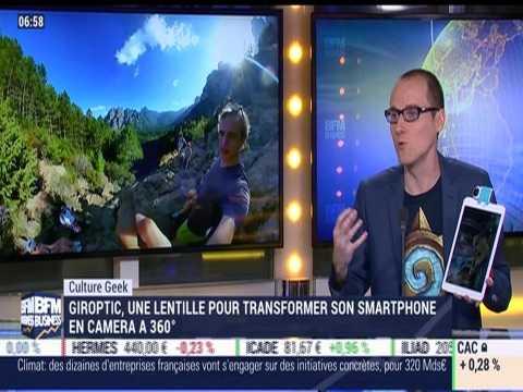 Anthony Morel: Giroptic, une lentille pour transformer notre smartphone en camera à 360° - 11/12