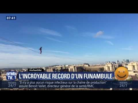 L'incroyable record d'un funambule