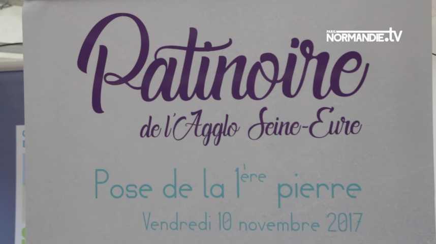 Louviers : pose de la première pierre de la future patinoire de l'agglo Seine Eure