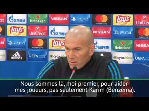 """Groupe H - Zidane : """"Nous sommes tous là pour aider Karim"""""""