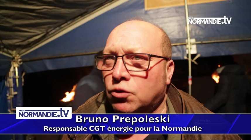 A Val-de-Reuil, des agents EDF en grève