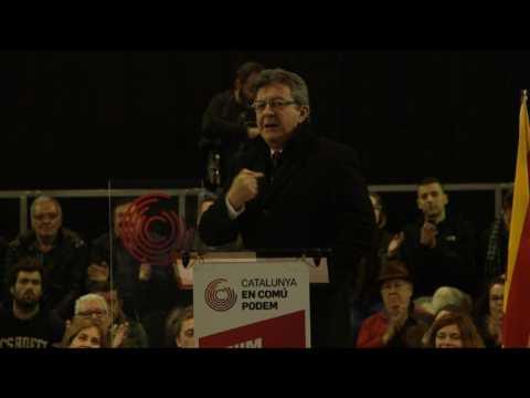 """Mélenchon invité au rassemblement du """"Podemos"""" catalan"""