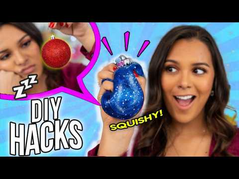 DIY Holiday Hacks Every LAZY PERSON Should Know! How to Gift Wrap + Christmas Decor & Food Hacks!
