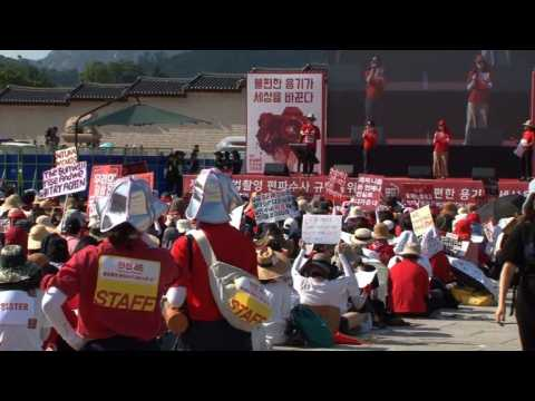 'Spycam porn' sparks record protests in South Korea