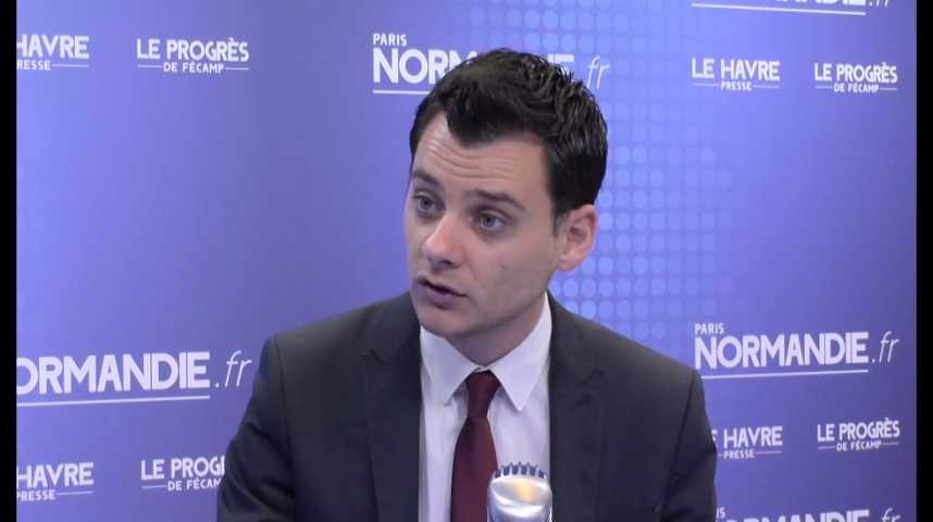 Damien Adam, député de la première circonscription de Seine-Maritime