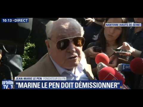 Jean-Marie Le Pen refoulé d'une réunion du FN, le jour de son anniversaire