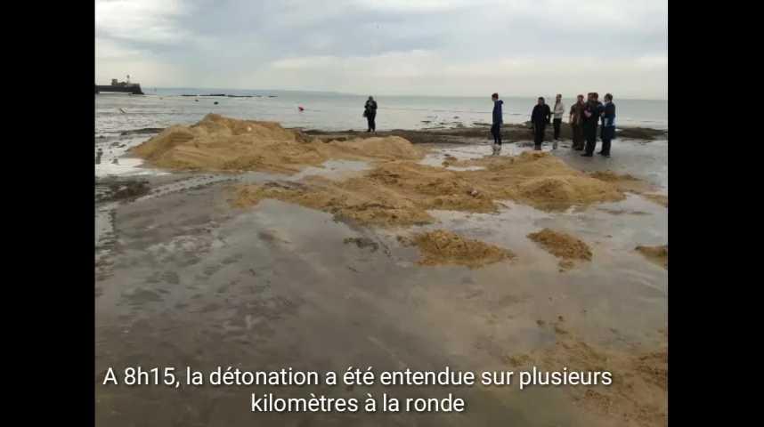 Opération de déminage sur la plage du Havre