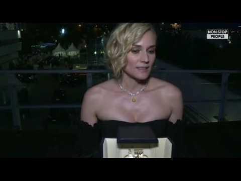 Emmanuel Macron félicite Diane Kruger pour son prix à Cannes