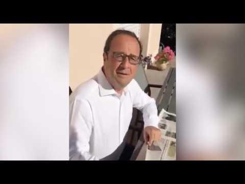 Pendant ce temps-là, Hollande fait la promotion d'un petit tournoi de foot amateur