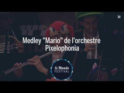 Les thèmes musicaux du jeu vidéo Mario par l'orchestre Pixelophonia