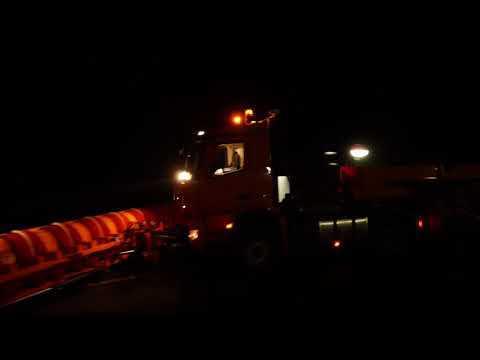 Mercedes Benz Remote Truck Pferdsfeld - Aerial Shots at Night