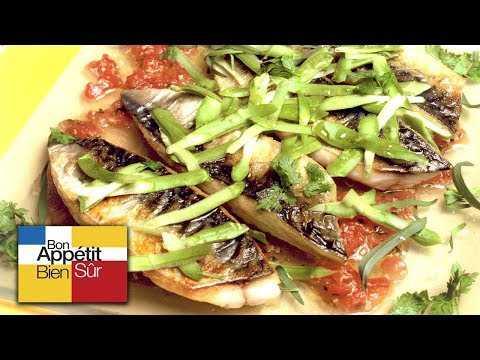 [Recette] Filets de maquereau, Tombée De Tomates Au Basilic - Chef Patricia Gomez