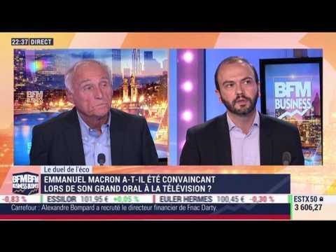 Le duel de l'éco: Emmanuel Macron a-t-il été convaincant lors de son grand oral à la télévision ? - 16/10