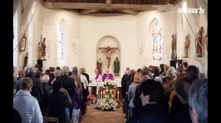Les obsèques de Danielle Darrieux à Bois-le-Roi