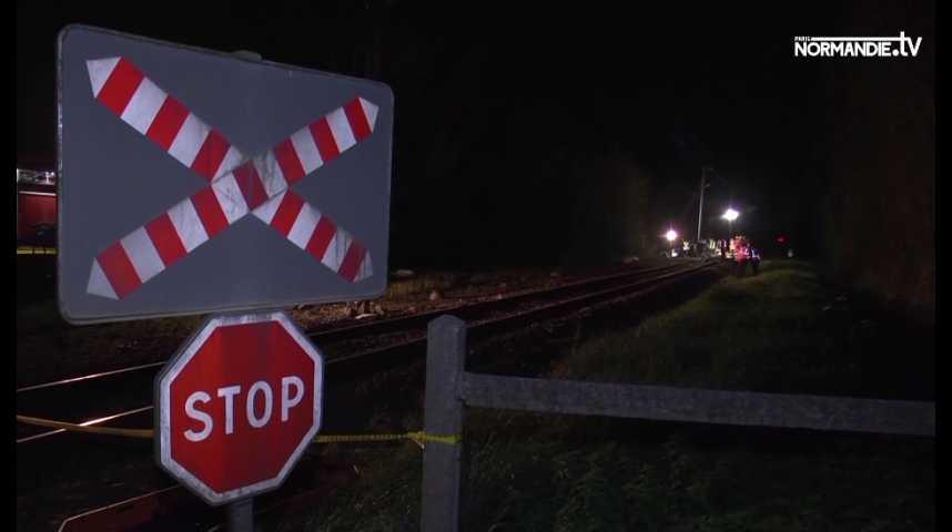 Trois morts dans une collision entre un train et une voiture en Normandie