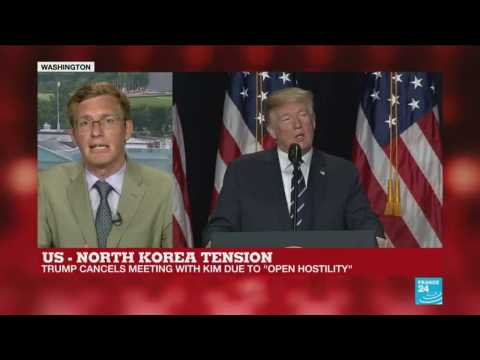 Trump 'trying to get the upper hand' in cancelling summit himself, says France 24's Philip Crowther