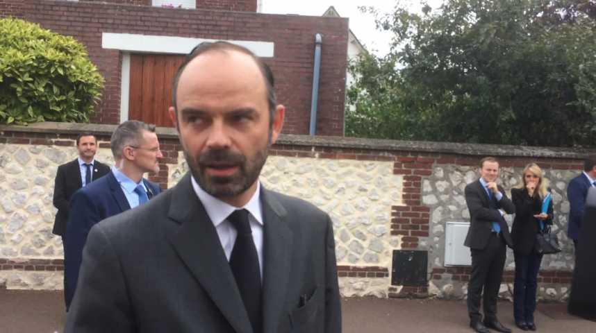 Edouard Philippe rend hommage au Père Jacques Hamel