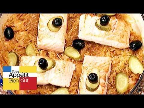 Choucroute de saumon à la russe