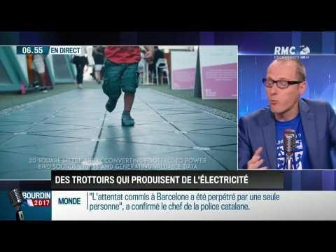 La chronique d'Anthony Morel: Des trottoirs qui produisent de l'électricité - 21/08
