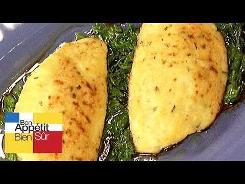 Filet de marbré au parmesan fondue de roquette