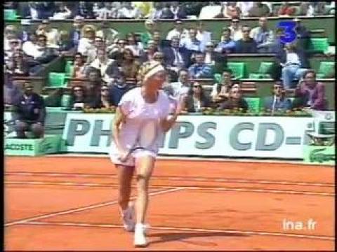 Finale dames à Roland Garros :  Premier set Arantxa Sanchez