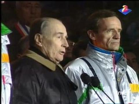 François Mitterrand prononce l'ouverture des Jeux Olympiques d'Albertville