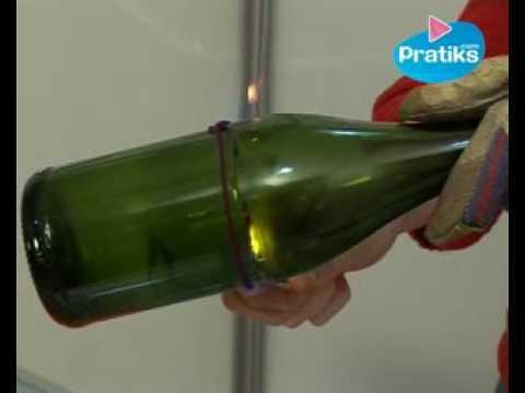 Comment ouvrir une bouteille en verre avec un briquet - Couper une bouteille en verre ...