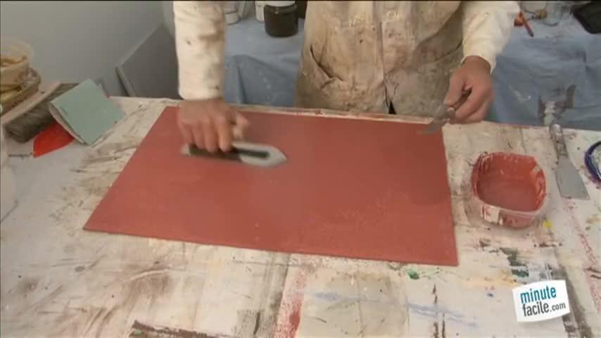 l'enduit décoratif façon peinture stucco - minutefacile.com - Comment Enlever De L Enduit Decoratif
