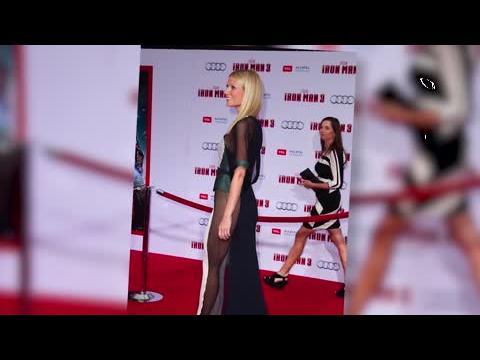 Gwyneth Paltrow est audacieuse dans une robe transparente à la première d'Iron Man 3