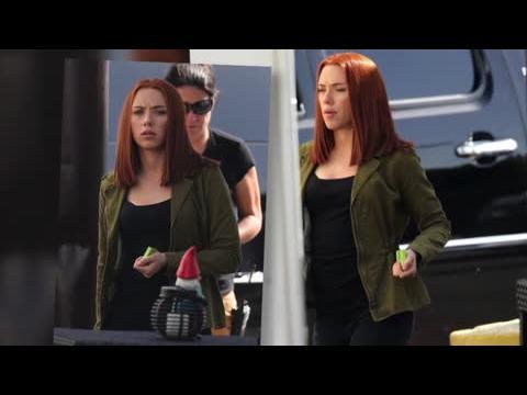 Scarlett Johansson est mince sur le plateau de Captain America