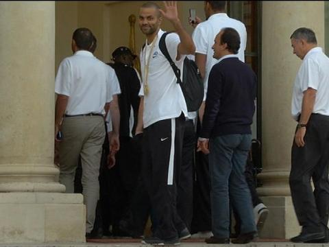 Champions d'Europe, les basketteurs français accueillis à l'Elysée - 23/09