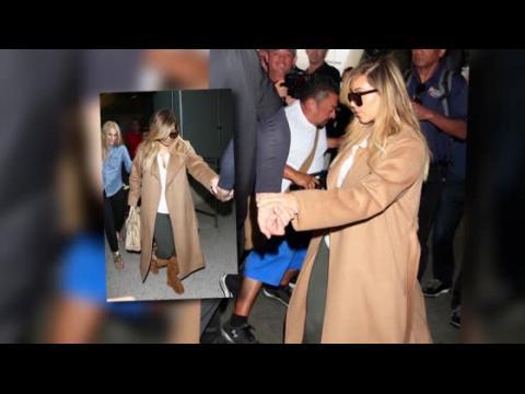 Kim Kardashian atterrit à Los Angeles
