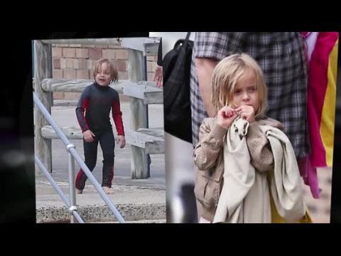 Les enfants d'Angelina et Brad passent la journée à la mer