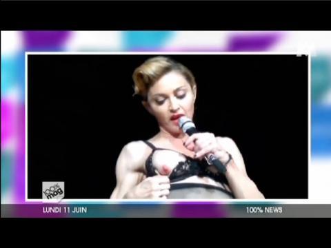 Zapping people du 12/06/12 - Madonna sort un sein en plein concert !
