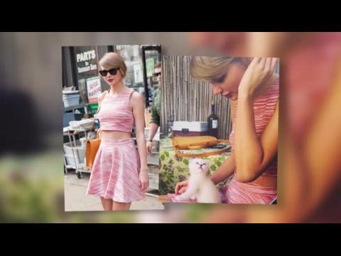 Taylor Swift et son nouvel ami à fourrure