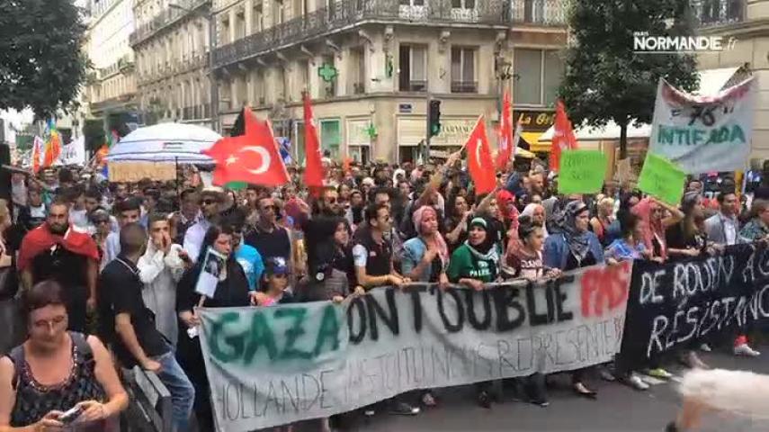 Manif de soutien au peuple palestinien