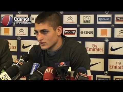 Conférence de presse de Marco Verratti
