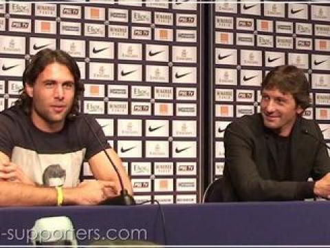 PSG : Salvatore Sirigu et Momo Sissoko présentés par Leonardo