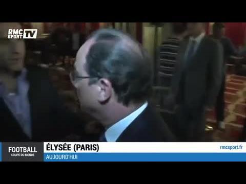 Football / François Hollande a vibré pendant France - Honduras - 15/06