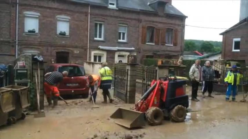 Inondations à Barentin