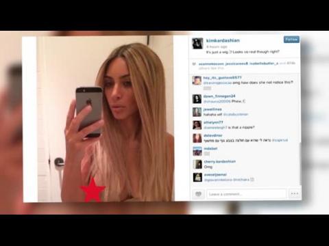 Kim Kardashian montre le bout de son sein sur Instagram