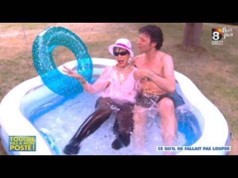 Isabelle Morini-Bosc très sexy dans la piscine - ZAPPING PEOPLE DU 27/06/2014