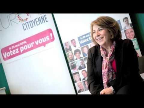 Candidate aux élections Européennes Corinne Lepage est en Interview