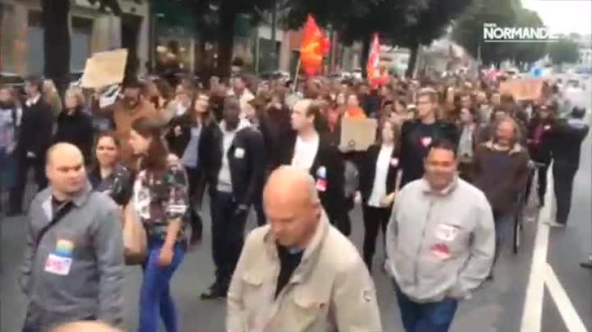 Faible mobilisation anti-FN à Rouen