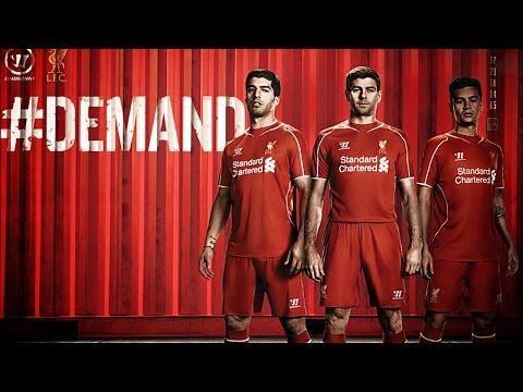 Les nouveaux maillots de Liverpool pour la saison 2014-2015 !