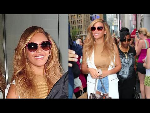 Beyoncé dans un short en jeans à New York