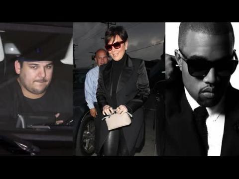 Rob Kardashian dévasté par la démonstration d'affection de Kris Jenner pour Kanye West