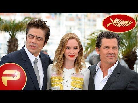"Cannes 2015 - Benicio del Toro, Emily Blunt et Josh Brolin pour le film ""Sicario"""