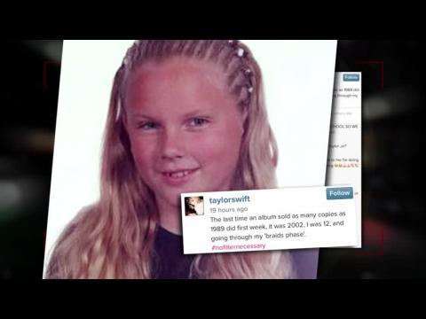 Taylor Swift partage une drôle de photo qui date de 2002 pour célébrer 1989