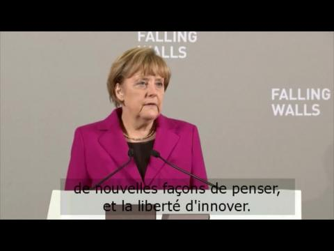 Angela Merkel célèbre la chute du Mur de Berlin